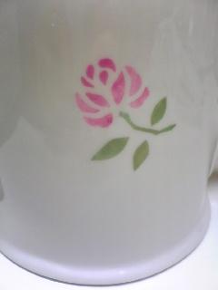 陶器に絵付けサンプル